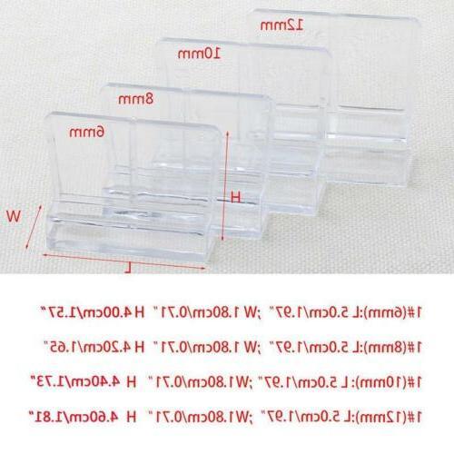Practical Aquarium Acrylic Glass Support Holders Parts SL