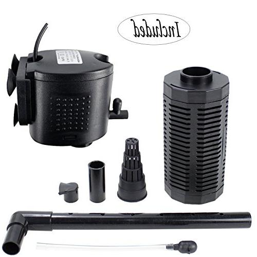 Aquaneat Aquarium 350GPH gal Fish 3-in-1 Water Pump