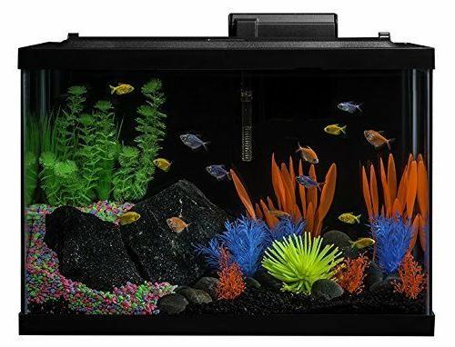 Glofish AQUARIUM KIT LED LIGHT TETRA GLASS FISH 2 SHIP
