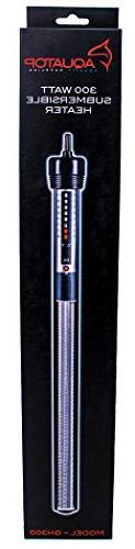 Aquatop Aquarium Glass Submersible Heater, 300-Watt