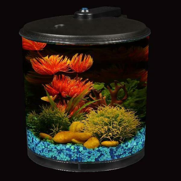 AquaView 2-Gallon Fish Tank Power Filter and Lighting
