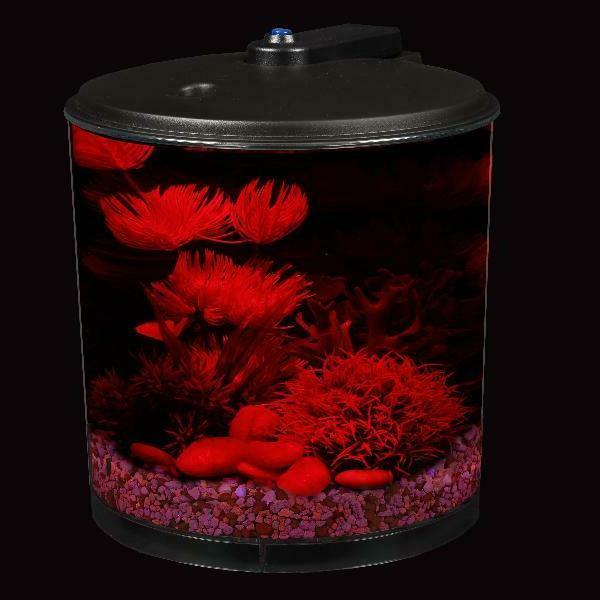 AquaView 2-Gallon 360 Tank Bowl Power Filter and Lighting