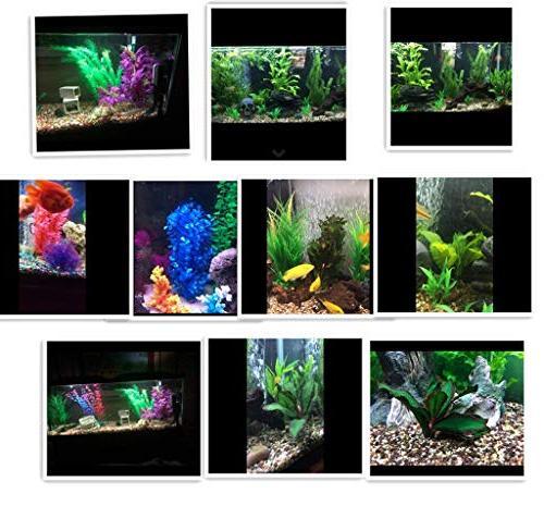 ZAZALUM Aquarium Plants, Betta Fish Green Aquatic Water Lobelia-green-8in
