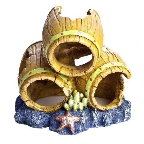 barrels ornament aquarium