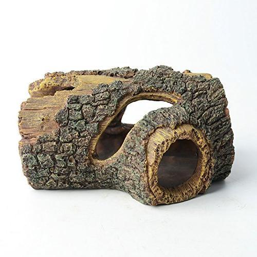 betta log resin hollow tree