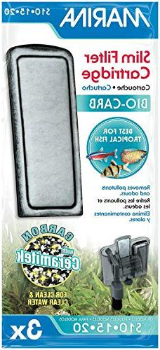 Marina Bio Carb Cartridge for Slim Filters, 3 Count, 12 Pack
