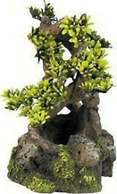 bonsai on rocks ornament for biorb fish