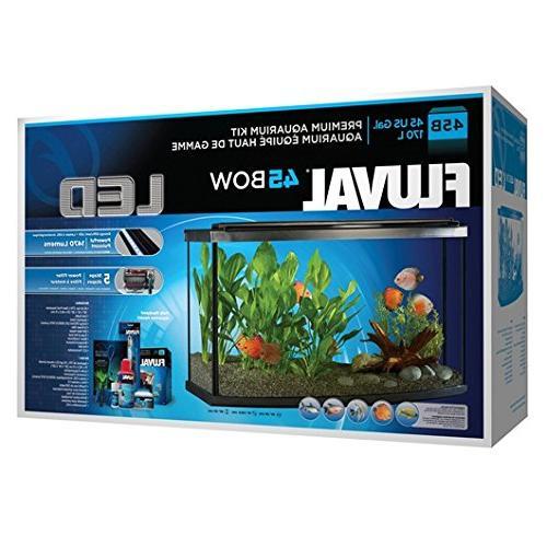 Fluval Premium Front Aquarium Kit w/LED, Gallon