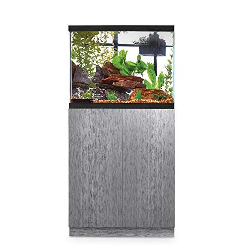 brushed steel look fish tank