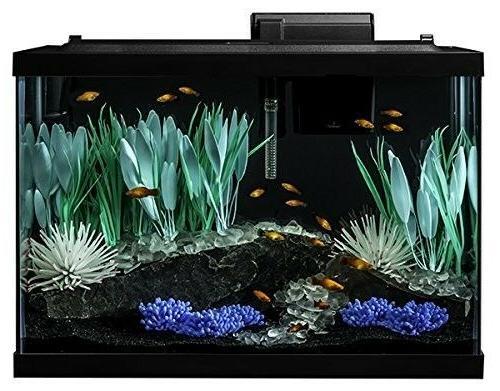Aquarium Kit Fish Tank Color Change Led Light Filter Heater