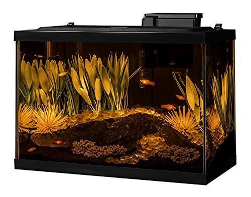 Tetra Gallon Fish Tank Includes LED Decor