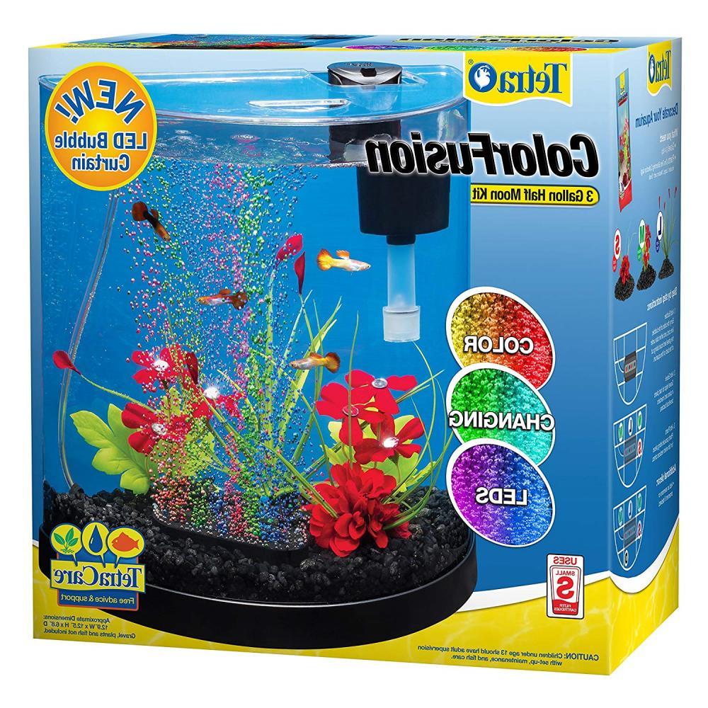 colorfusion half moon aquarium kit led bubble