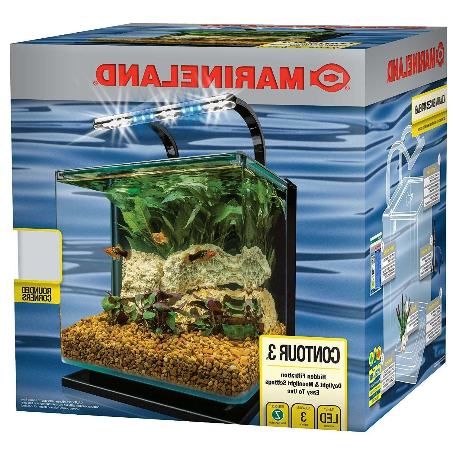 MarineLand Aquarium Kit with Rail by MarineLand NEW