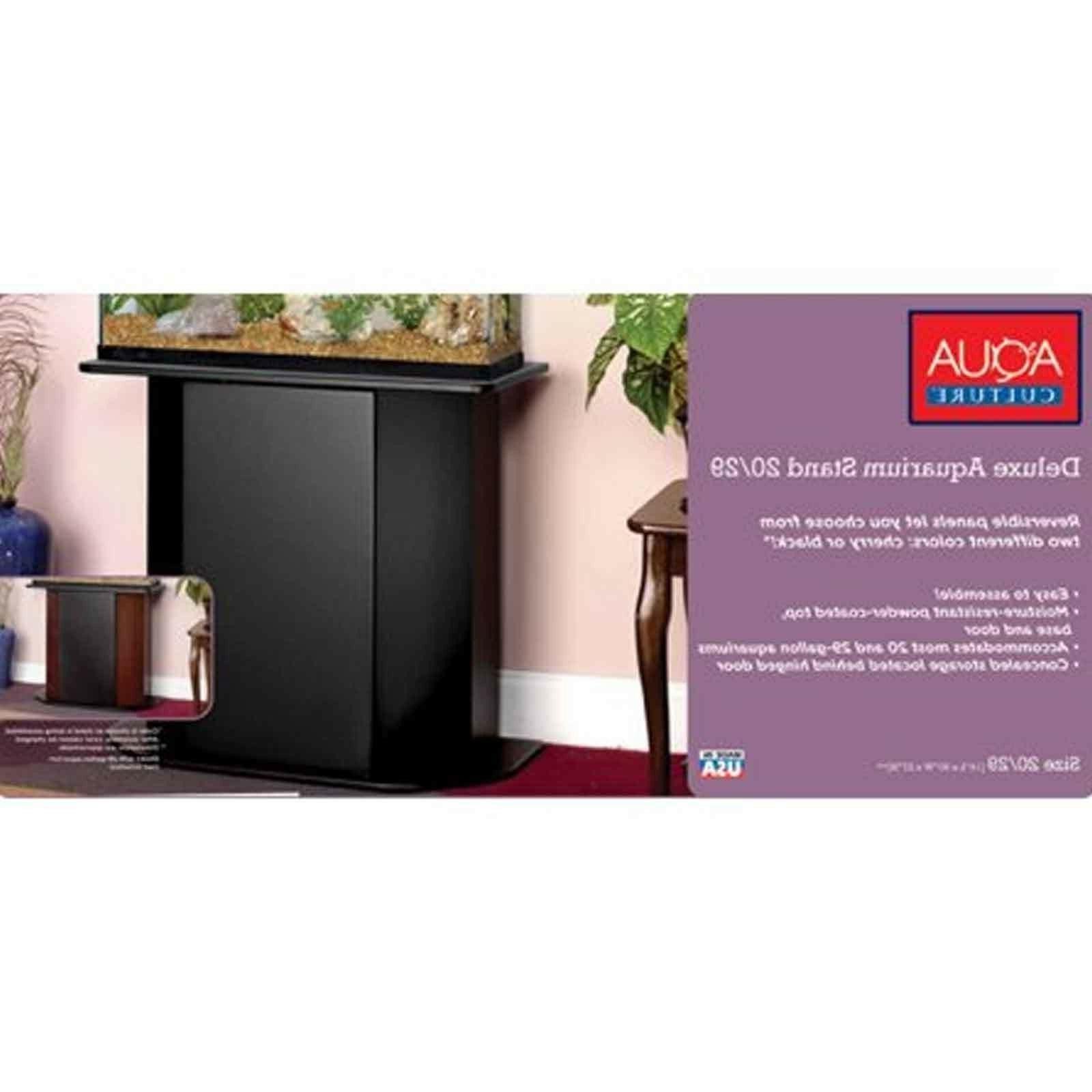Aqua Aquarium Stand Holder Storage Door Cabinet