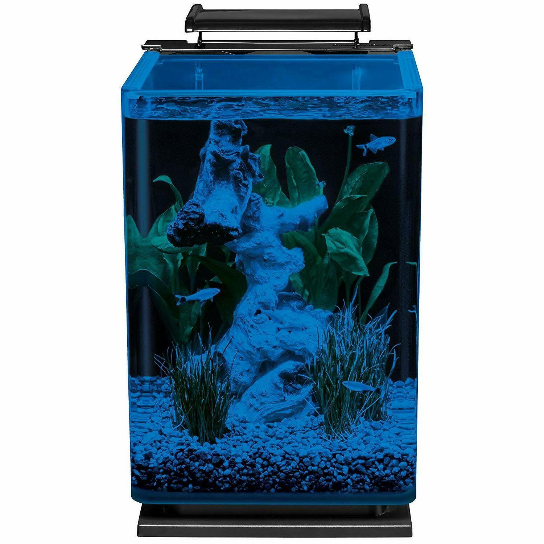 Modern 5 Gallon Black Glass Fish Filt