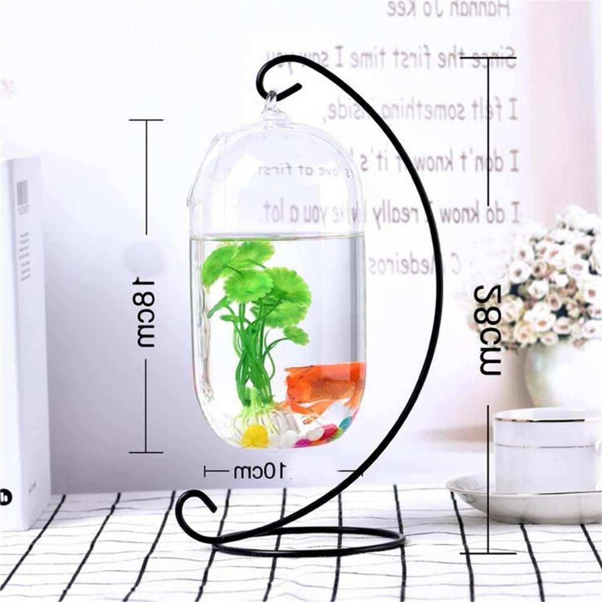 Desktop Hanging Glass <font><b>Fish</b></font> <font><b>Tank