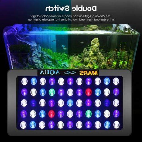 2x 165W LED Aquarium Full Spectrum Bright Lighting SPS