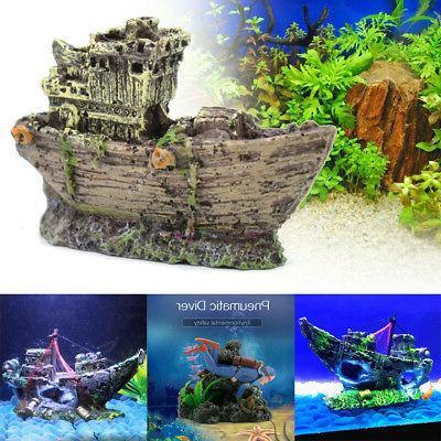 diver figure action aquarium ship ornament fish