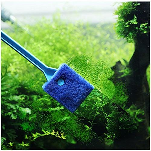 Petacc Double-sided Fish Tank Cleaner Sponge Portable with Suitable for Cleaning Fish