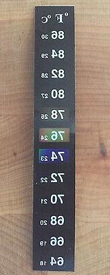 Dual Aquarium Fish Tank Thermometer Temperature Sticker Stic