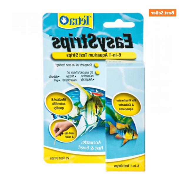 Tetra EasyStrips 6 in 1 Aquarium Test Strips 100ct
