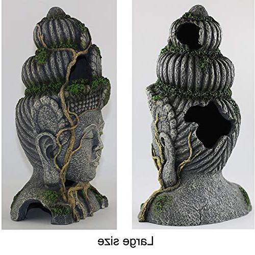 Exotic Environments Moss Decorations Buddha Head Ornament Tank