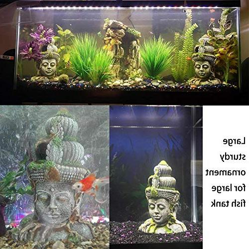 Exotic Statue with Moss Aquarium Tank