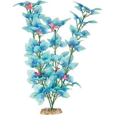fiesta silk blue aquarium plant