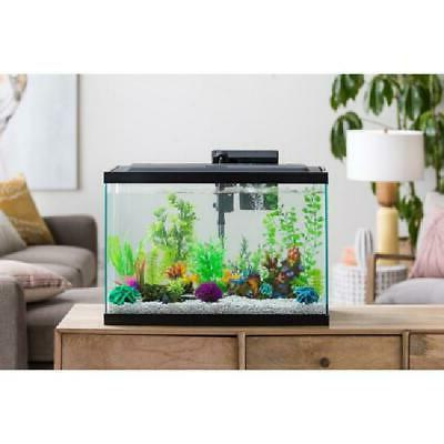 20 Gallon Aquarium Fish Tank Starter Kit LED Hood Aqua Cultu