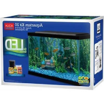 Fish Starter 20 Gallon Fish Tank Complete Aqua Filter NEW