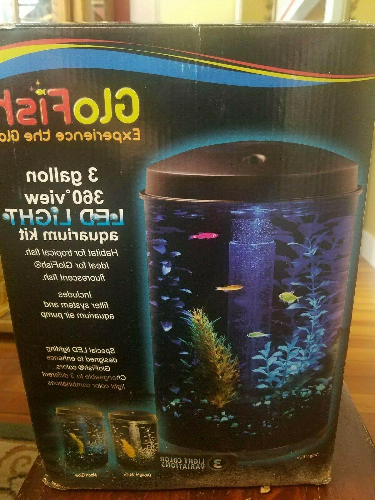 Fish & Aquatic Supplies Glofish Kit Gloview 360 Cylinder Tan