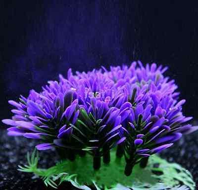 Fish Tank Accessories Artificial Plant Purple Grass