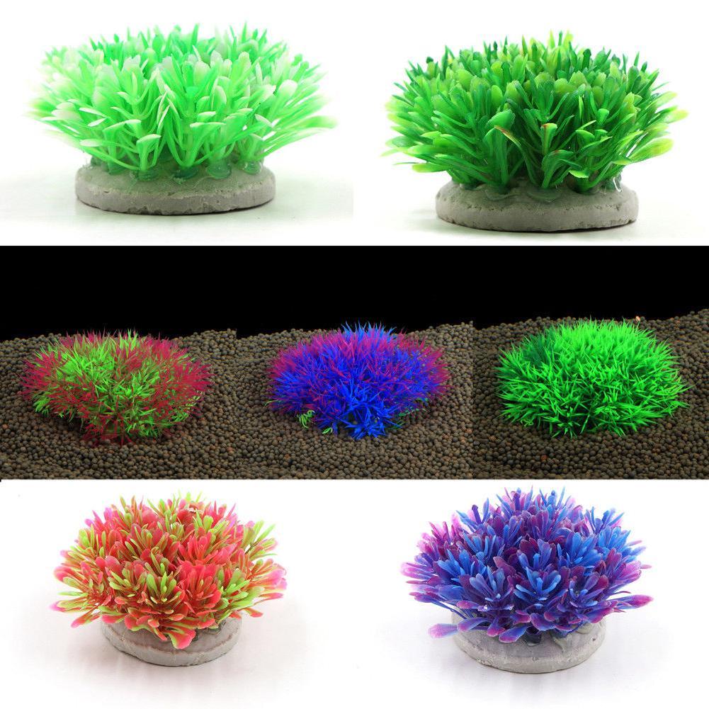fish tank decoration grass background landscape artificial