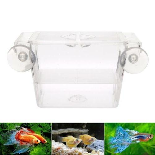 Fish Tank Isolation Hatchery Breeding Box Aquarium W