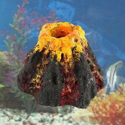 1pc volcano decor aquarium fish tanks bubbler