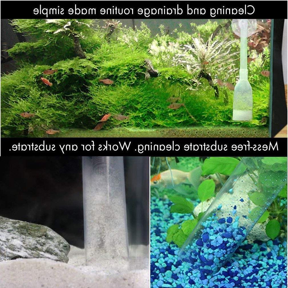 <font><b>Aquarium</b></font> Vacuum <font><b>Water</b></font> Siphon Gravel Suction Pipe Filter Fr Fish <font><b>Tank</b></font> Vacuum Change Tools