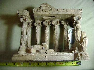Imagitarium Greco-Roman Temple Aquarium Ornament Greek Fish