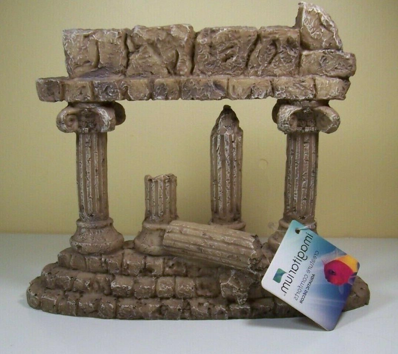 greek ruins atlantis pillars aquarium fish tank