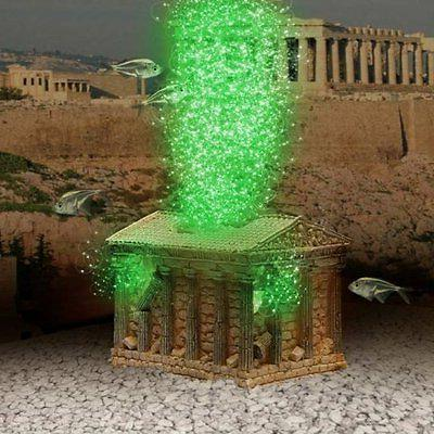 greek temple ornament air pump led bubble