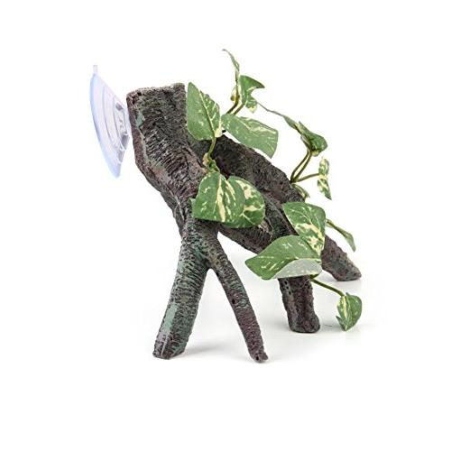 uxcell Resin Driftwood Terrarium Ornament Reptiles