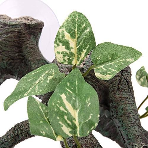 uxcell Green Driftwood Terrarium Decoration Reptiles