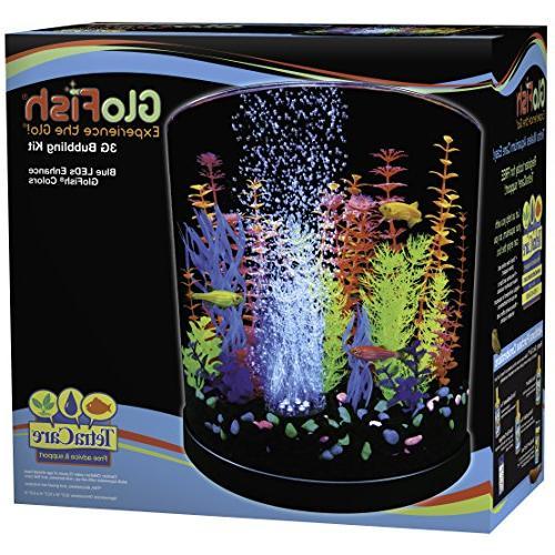 GloFish with Blue LED Bubbler, 3-Gallon