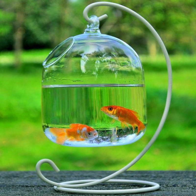 New Hanging Transparent Glass Vases Fishbowl Fish Tank Handm