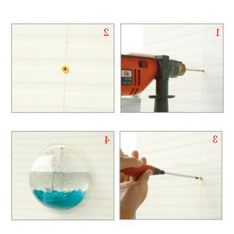 Wall-mounted Fish Bowl Bubble Aquarium Goldfish Box US
