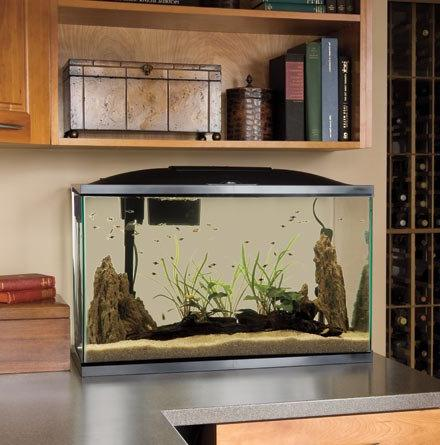 Marineland  AMLPFK20B Biowheel Aquarium Kit with LED Light,