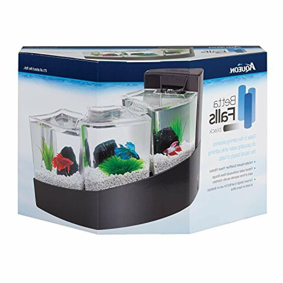 AQUEON KIT BETTA BLACK FISH NEW FREE SHIPPING