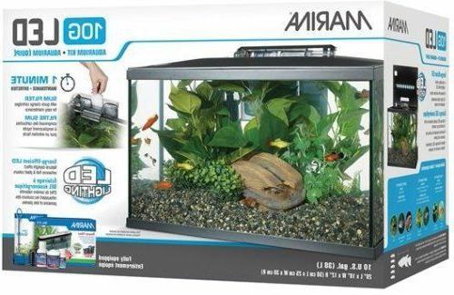 LED Aquarium Fish Tank Set 20, 10, Gallon Quiet