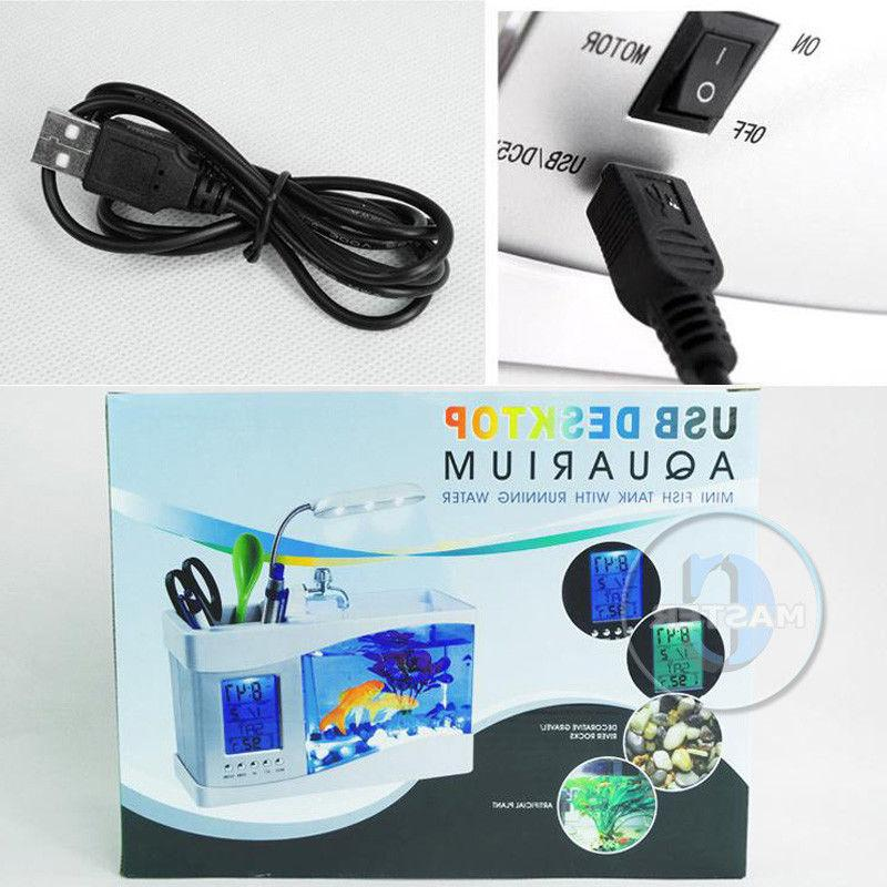 LED TANK USB DIGITAL CALENDAR WHITE