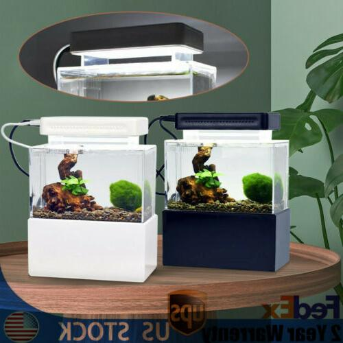 Mini Aquarium Tank Fish Bowl Filter Pump 4