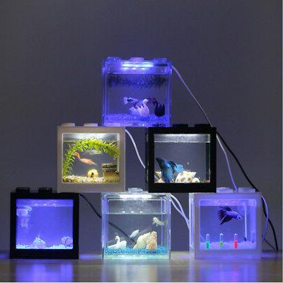 Mini Clear USB Goldfish Betta Tank Ornament Aquarium